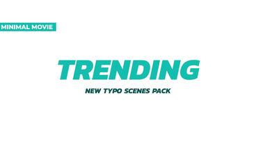 Trendy 20 Typography Scenes Premiere Proテンプレート