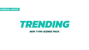 Trendy 20 Typography Scenes Premiere Pro Template