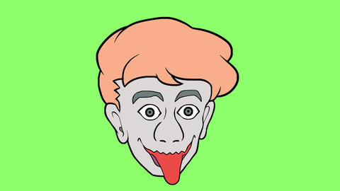 Cartoon head 6 Animation
