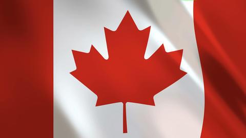 Canada Flag waving Animation
