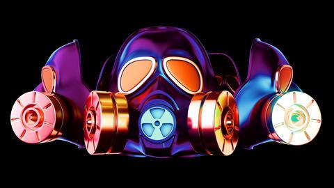 Gas Mask VJ Loop Animation