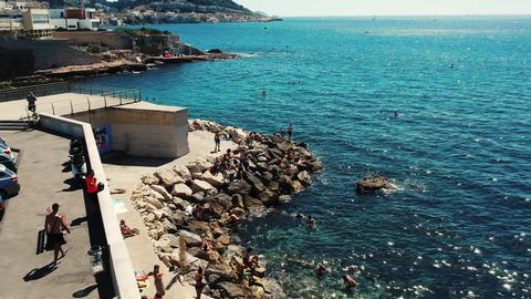 Savage beach on Marseille ( France ) Live Action