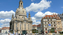 The Dresden Frauenkirche and old town square. Germany 영상물