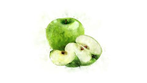 Green apple image animation Animation