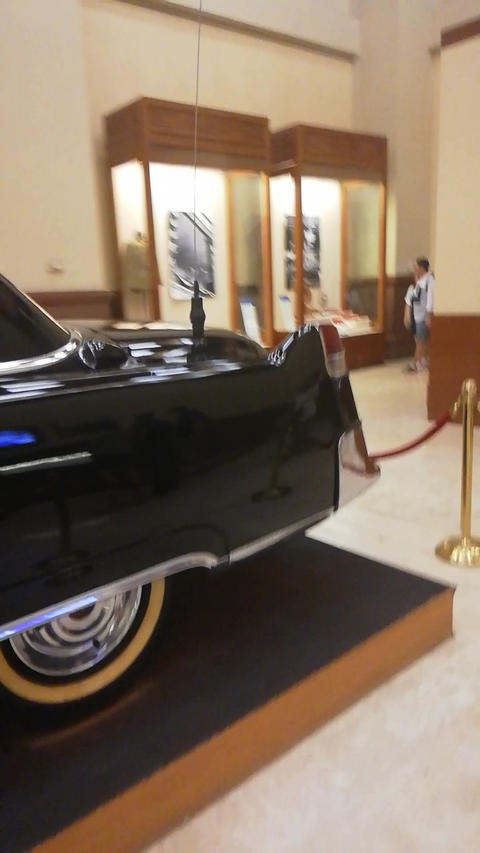 a black car in the museum Footage