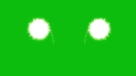 Fireworks (Green Back) HD 01 Animation