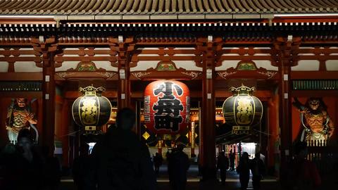 Timelapse in Sensoji(Asakusa temple), Tokyo, Japan Footage