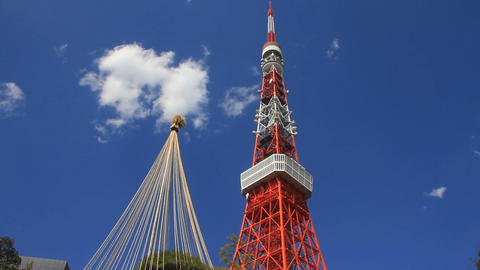 Tokyo tower including tower wide shot Live Action