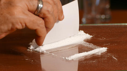 Cocaine, Illegal Drugs Stock Video Footage