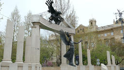 Budapest, monument dedicated to all the victims of Hungary's German occupation Live Action