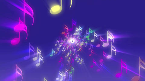 Purple Music Notes CG動画素材