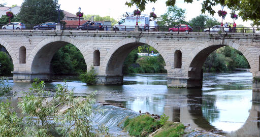 Bridge Of Sommieres City With The Vidourle River GIF