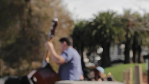 Cello musician outdoors park Archivo