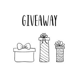 Giveaway vector template with hand drawn gift boxes Vector