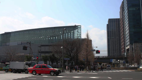 Kajibashi street wide shot near Tokyo station ビデオ