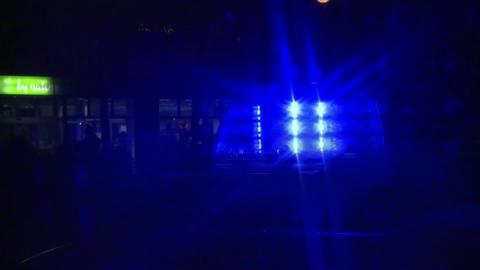 Blue light blue light siren police Footage