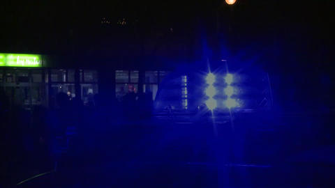 Blue light blue light siren police Stock Video Footage