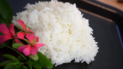 Rice plain boiled food healthy Live Action