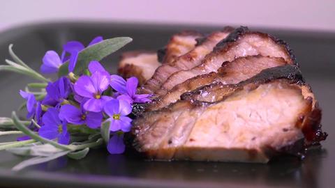 Roast pork meat food roasted Live Action