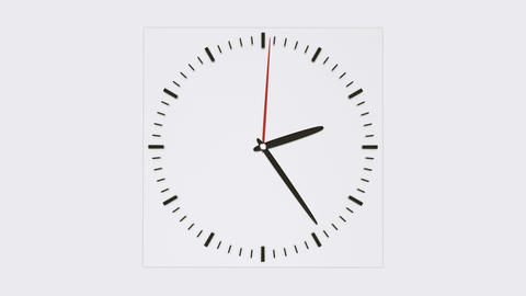 Clock face without numbers Animation