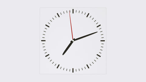 Clock face without numbers Stock Video Footage
