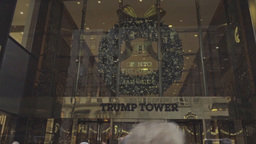 Trump Tower Entrance Establishing Shot Footage