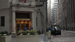 New York Stock Exchange Entrance Establishing Shot Footage