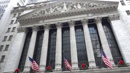 New York Stock Exchange Entrance Establishing Shot Footage