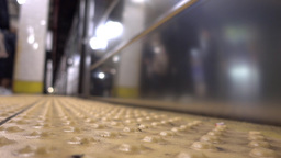 Subway Train Approaches Platform Footage