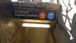 Entering Subway Station Beneath The Dakota Footage
