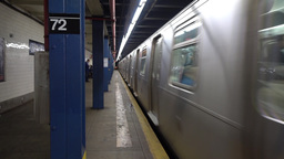 Subway Approaches 72nd Street Platform Footage