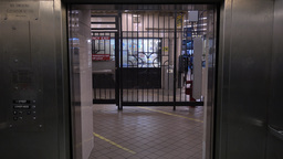 Doors Open to Reveal Empty Subway Station Footage
