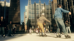 Slow Motion Pittsburgh Ice Skaters Footage