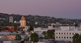 Beverly Hills Sunset Timelapse Footage