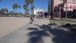 Venice Beach Bike Path POV stock footage
