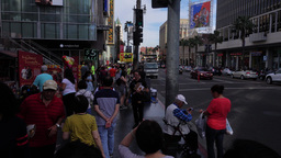 Tourists Crowd in Hollywood Footage