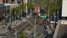 LA Marathon Runners Race Down Rodeo Drive 60fps Footage