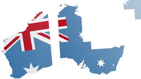 Map Australia States Animation