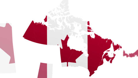 Map Canada States stock footage