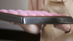 Process of making pink macaron Footage