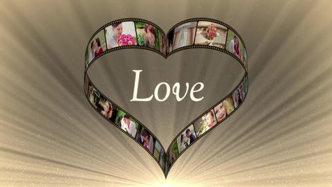 Heart Film Love 2 After Effects Template