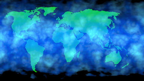 Cold air , snow storm covering Earth, world map. 3d animation Animation