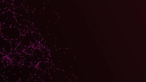 Abstract magenta plexus structure evolving in motion background with Technology Animation