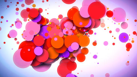 Colorful Dynamic Circles Background Animation