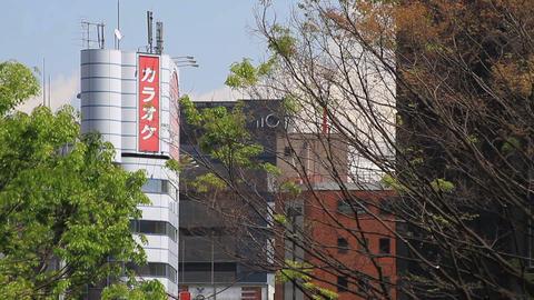 Buildings long shot at West Shinjuku ビデオ