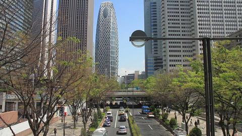 Buildings near goverment office street at West Shinjuku ビデオ