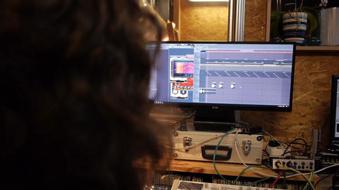 Studio daw audio music software Footage