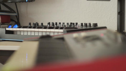 Synthesizer piano controller midi Footage