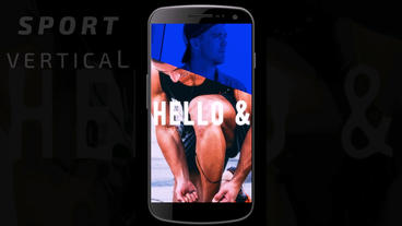 Vertical sport opener After Effects Template