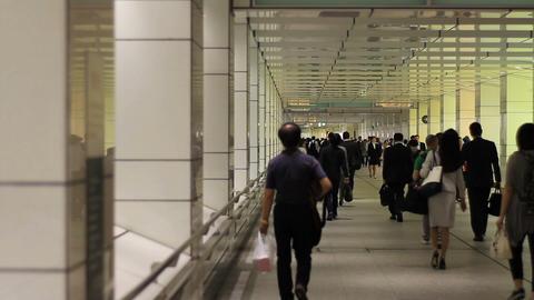 Station road middle shot at Shinjuku west side ビデオ